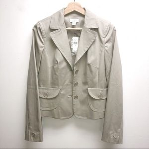 NWT Ann Taylor loft marissa small beige blazer